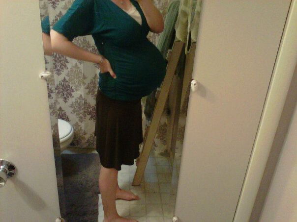 This was me at 37 weeks. And it got bigger. Ouch.