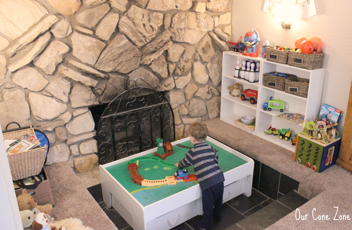 Living Room toy pit