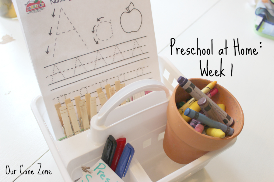 Preschool at Home-- Storage Caddy