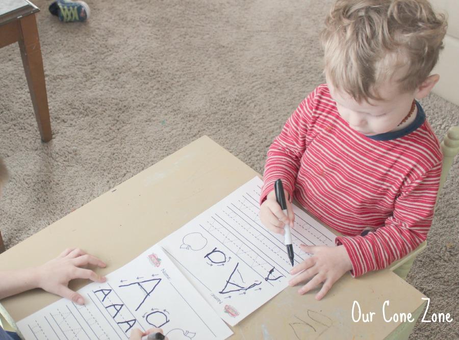 Preschool at Home Week 1 Letters