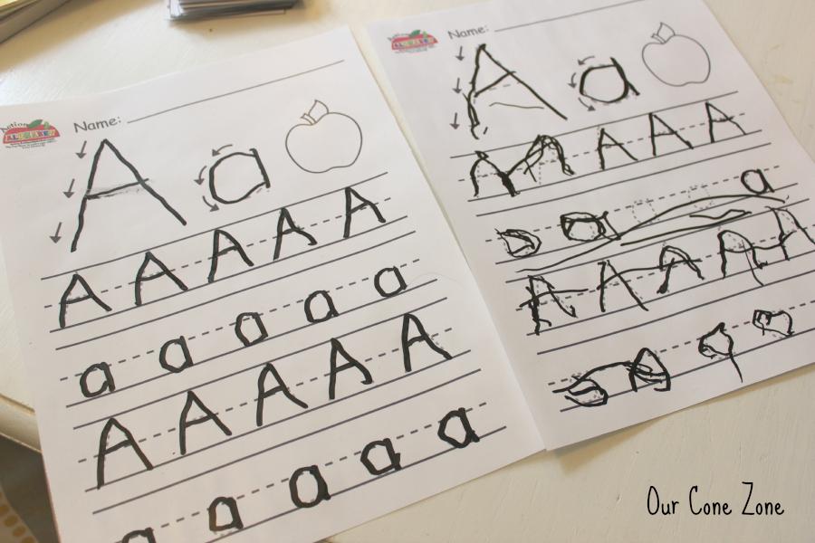 Preschool at Home Week 1 alphabet