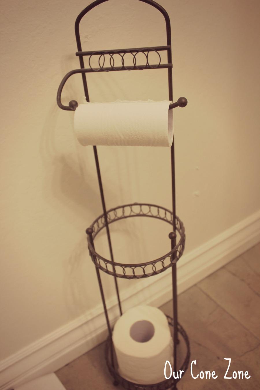 Upstairs Bathroom orb toilet paper holder