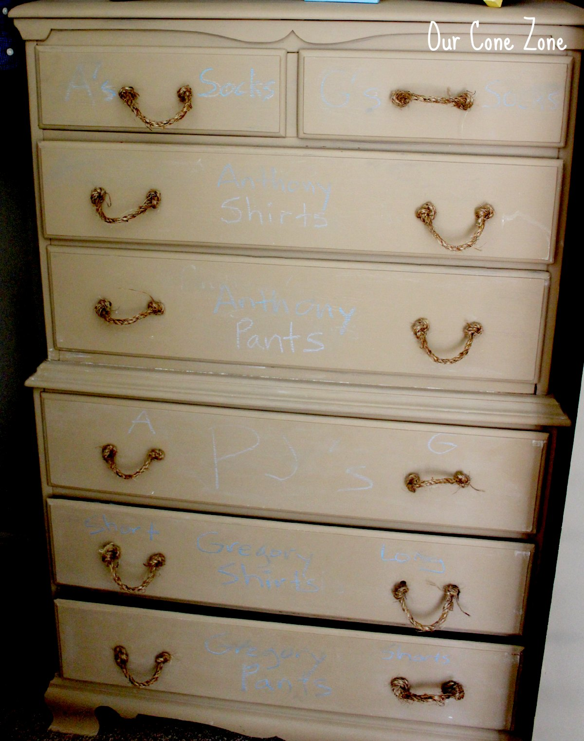 Boys Room Chalkboard Dresser Signature