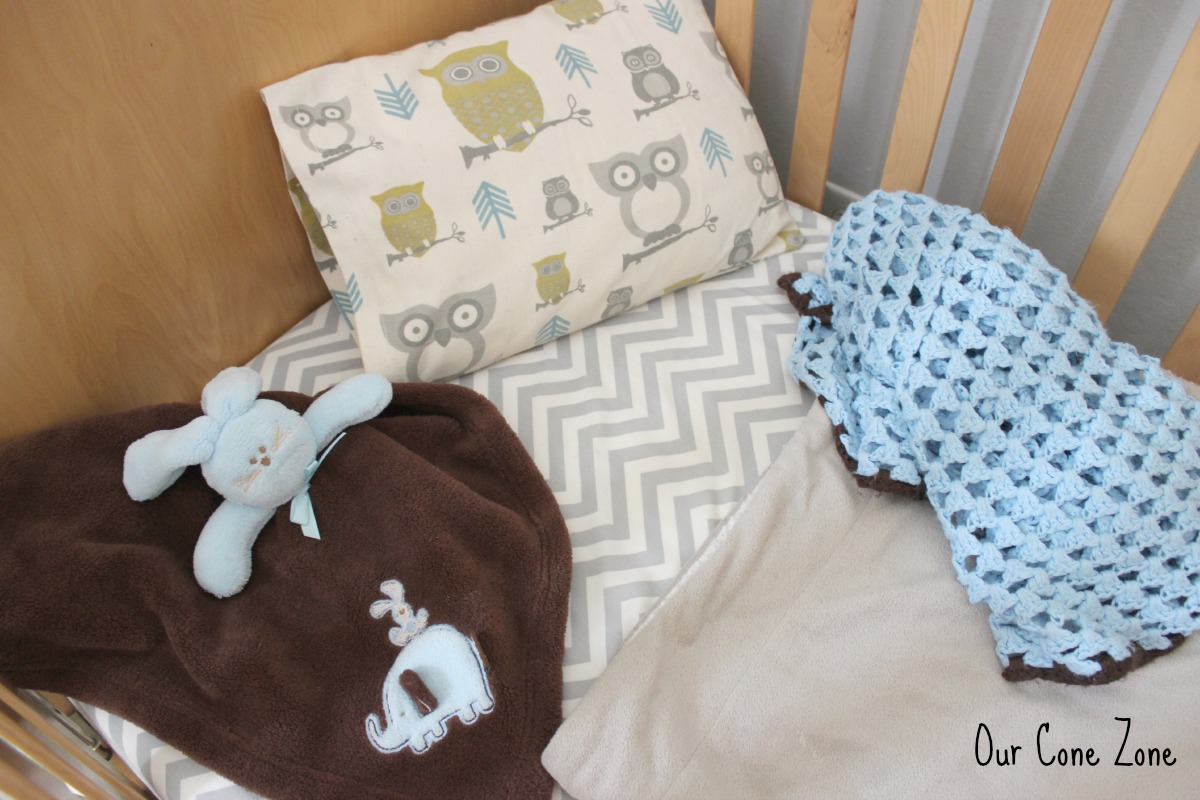 Boys Room Owl and chevron bedding set signature