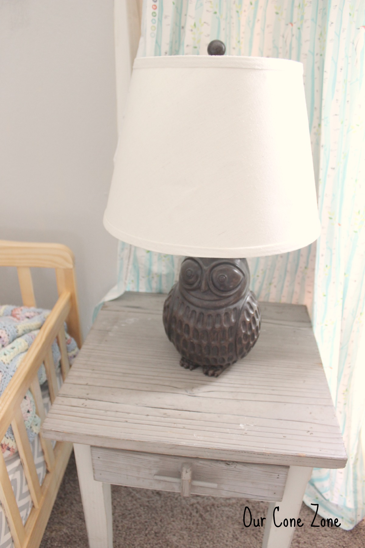 Boys room owl lamp signature