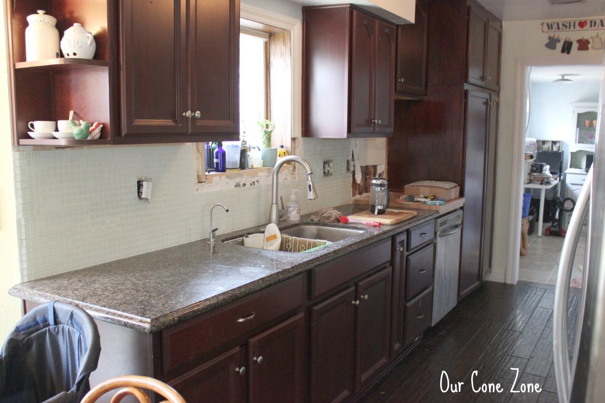 Kitchen Backsplash Side 2 almost done