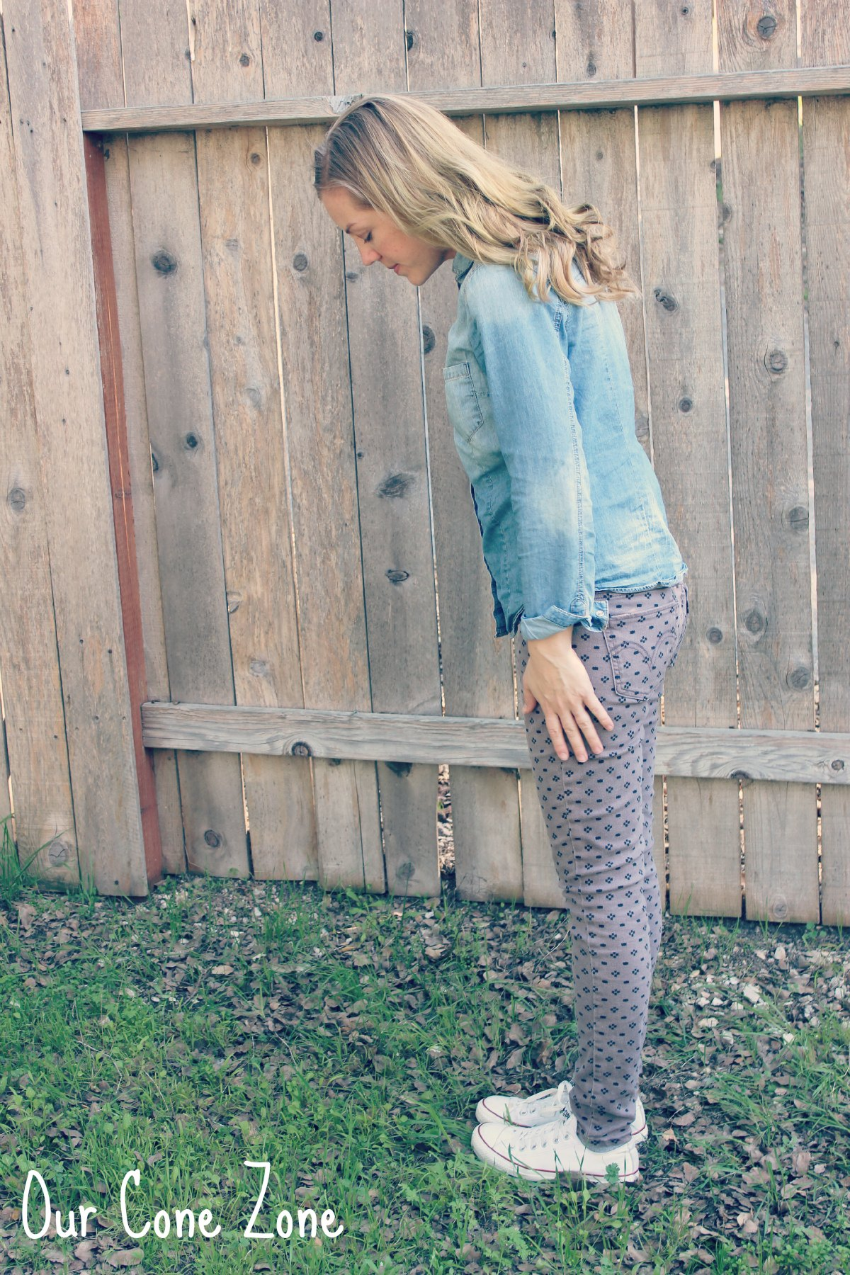 What I Wore Wednesday Chambray side view