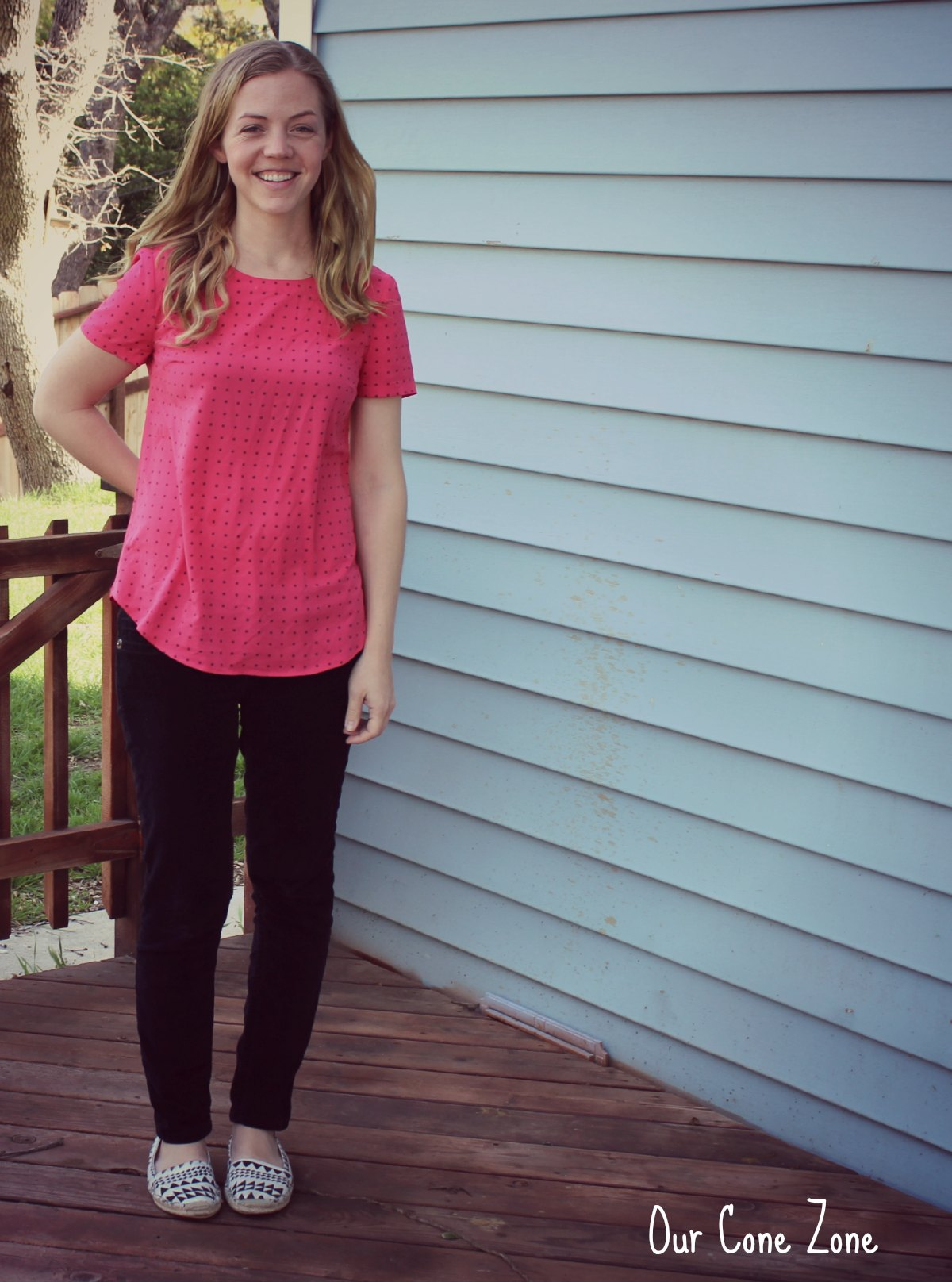 What I Wore Wednesday Pink Polka Dots 3