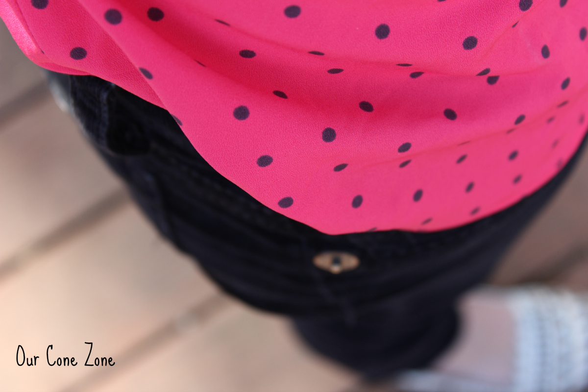 What I Wore Wednesday-- Pink Polka Dots 4