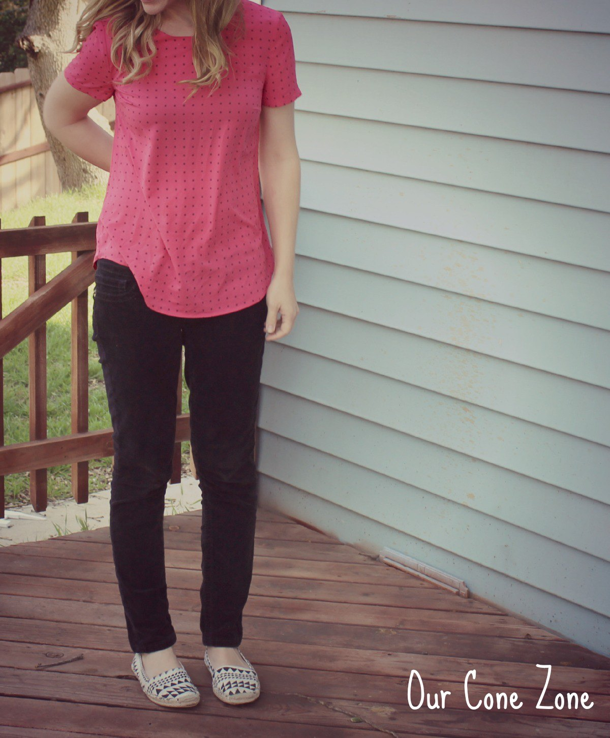 What I Wore Wednesday Pink Polka Dots