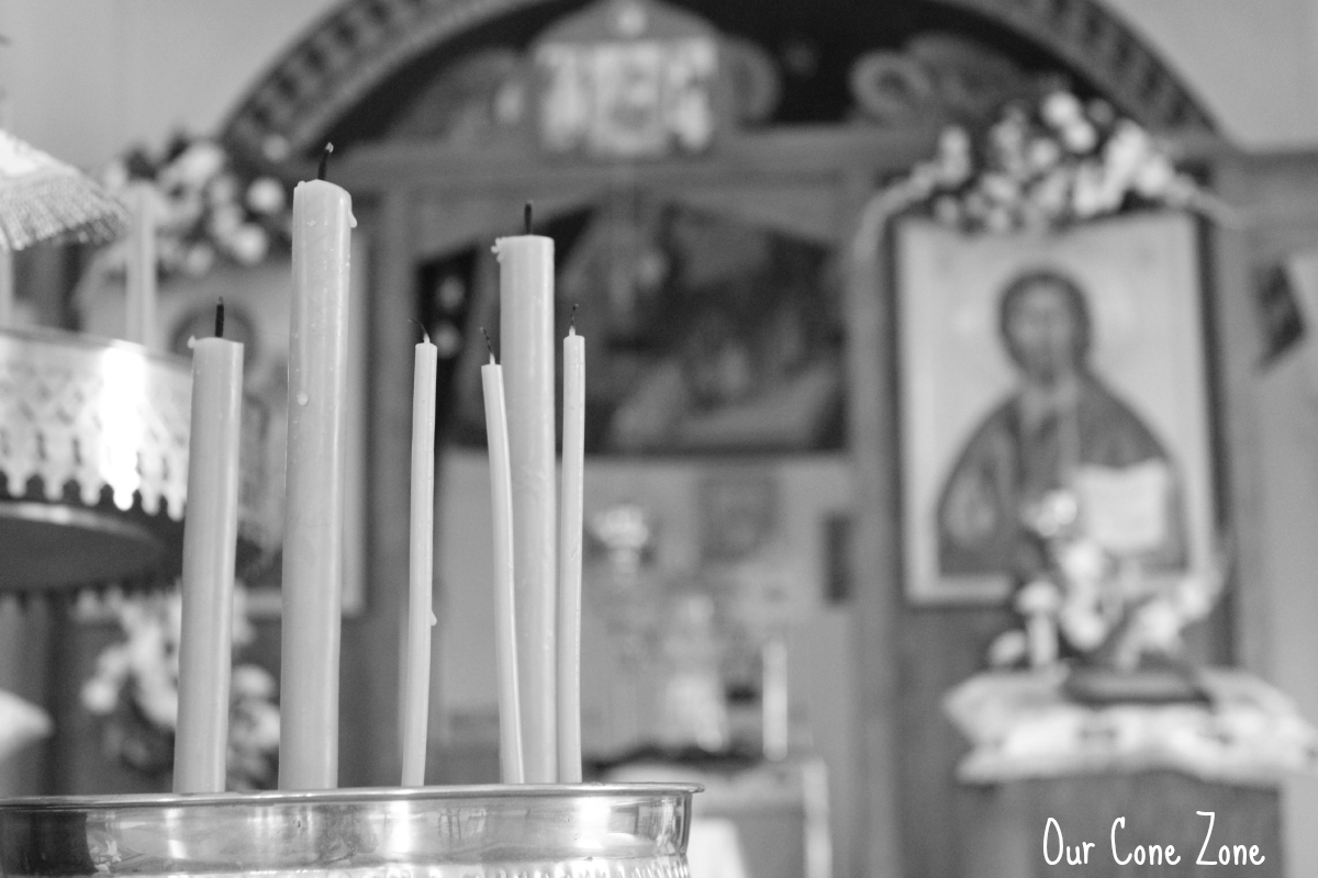 Candles and icons