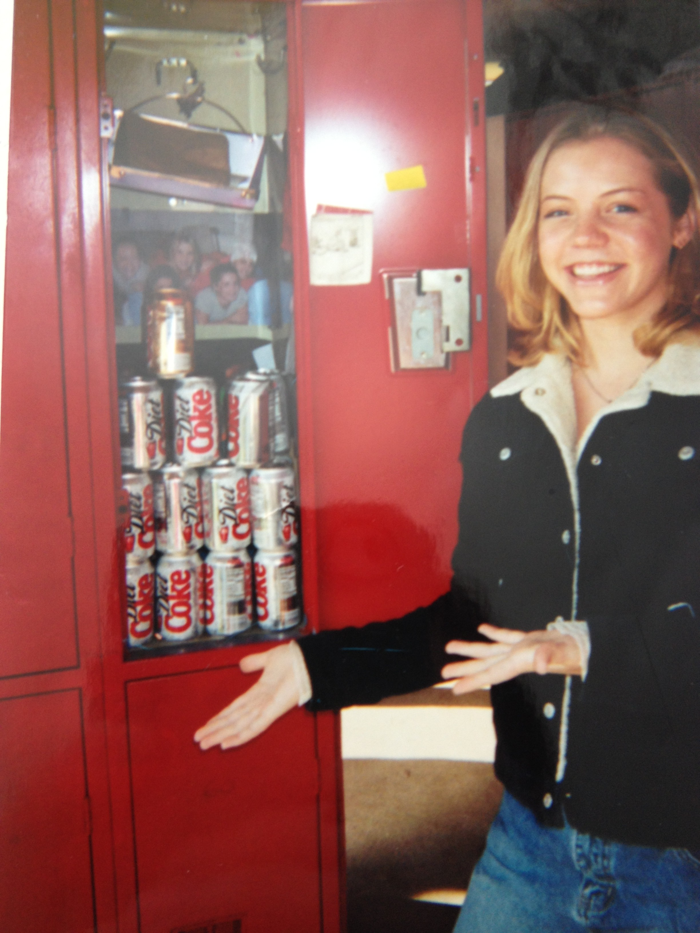 Diet Coke in a locker