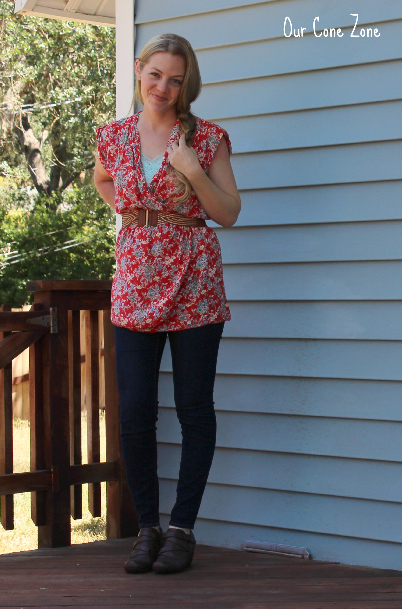 Floral Summer Tunic with belt