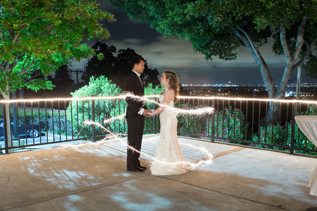 Sparklers at night wedding