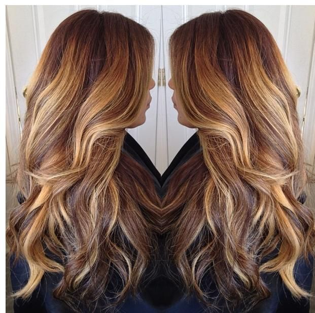 Caramel Ombre Hair Color On Black 44963