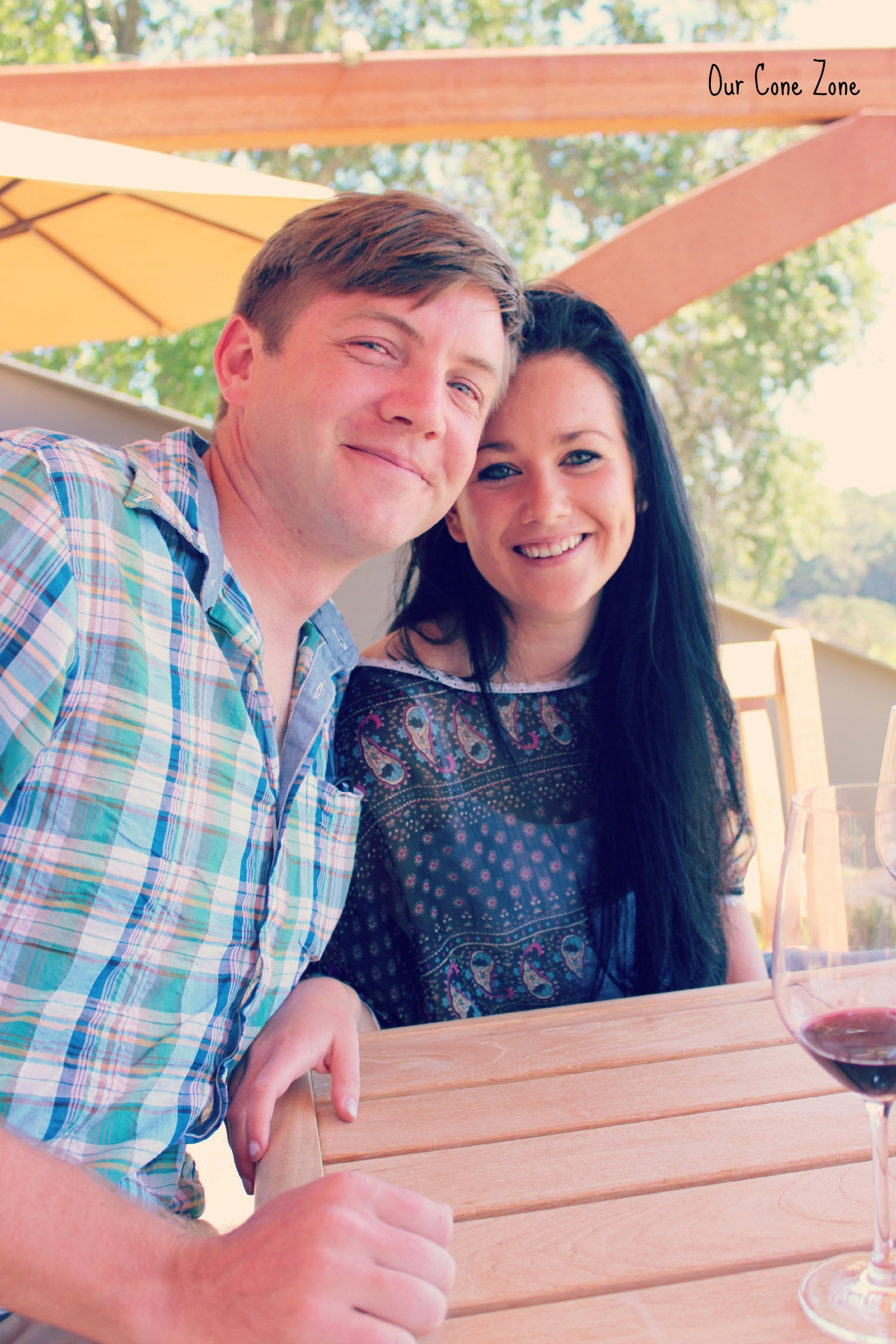 Cute couple at winery