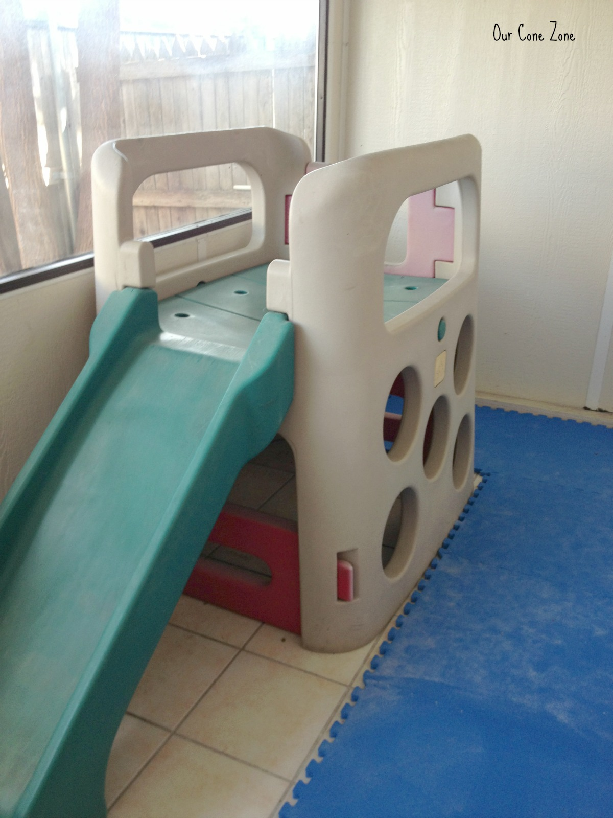 Play structure in sunroom signature