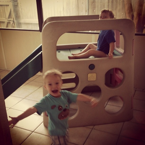 Sunroom boys play structure