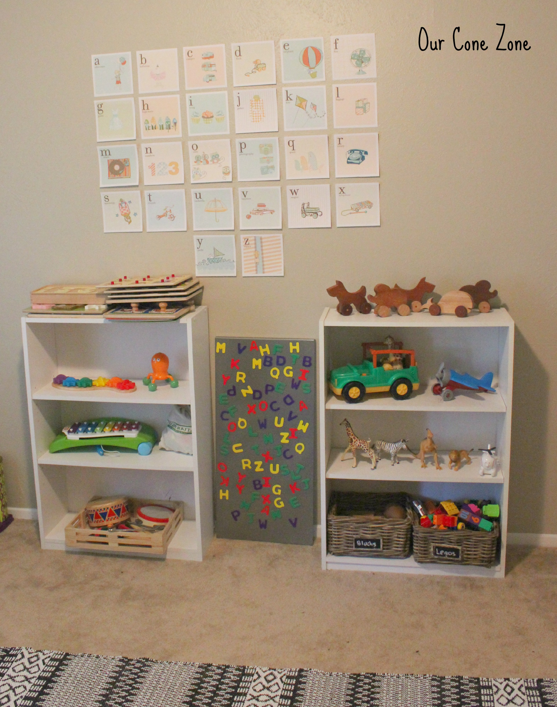 Montessori bookshelves