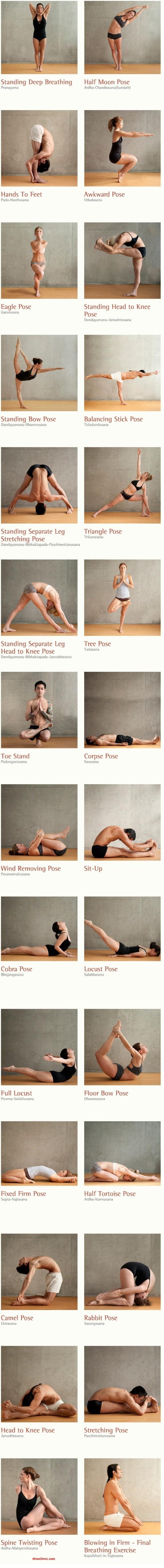 bikram yoga pose sequence