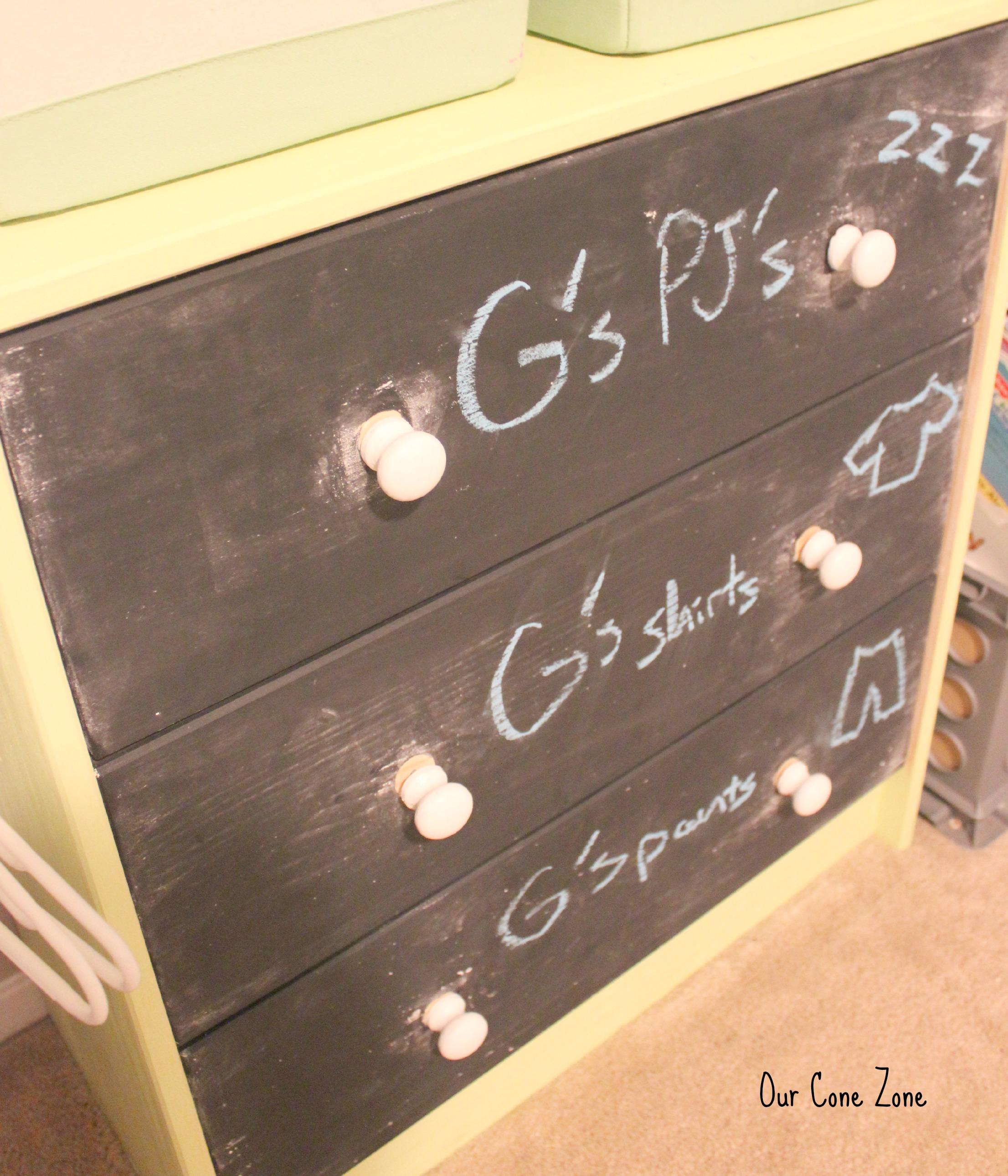 chalkboard dresser signature