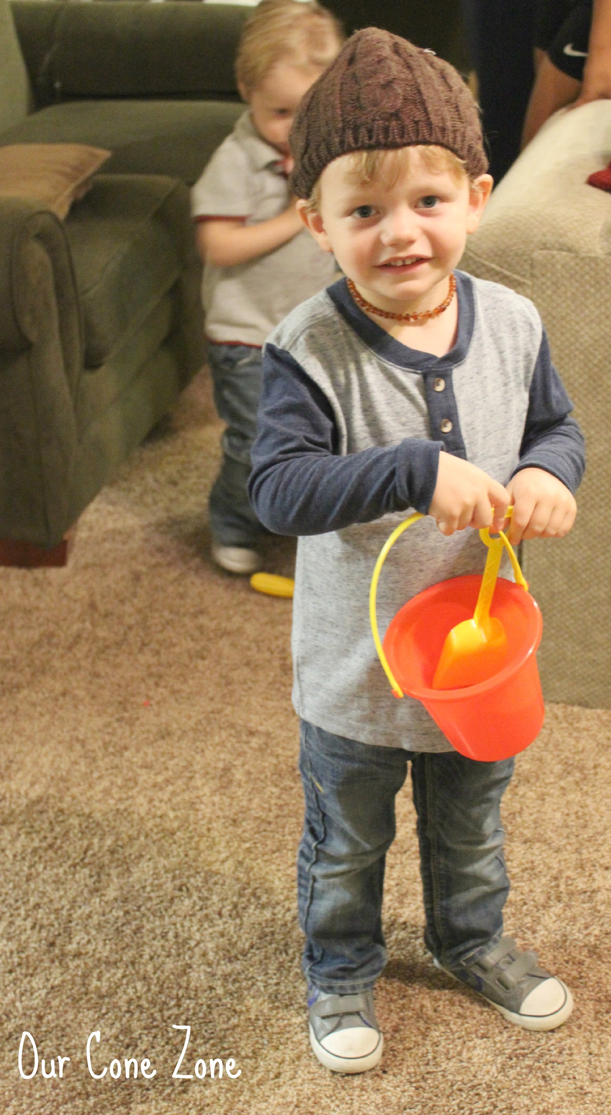 Gregory with bucket