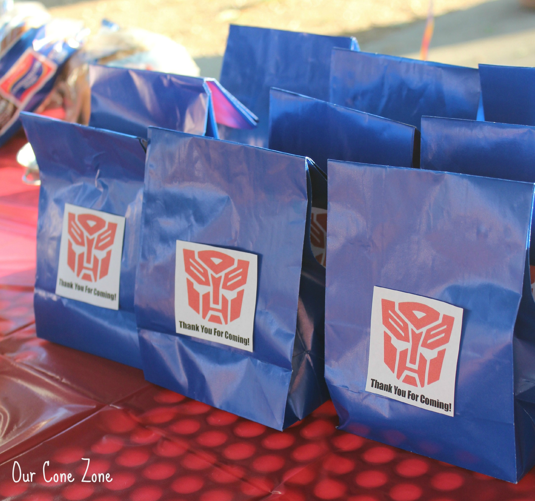 Bumblebee Transformers Party Candy Bags