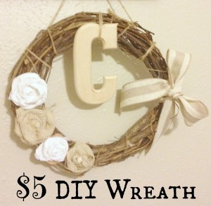 $5 DIY Wreath