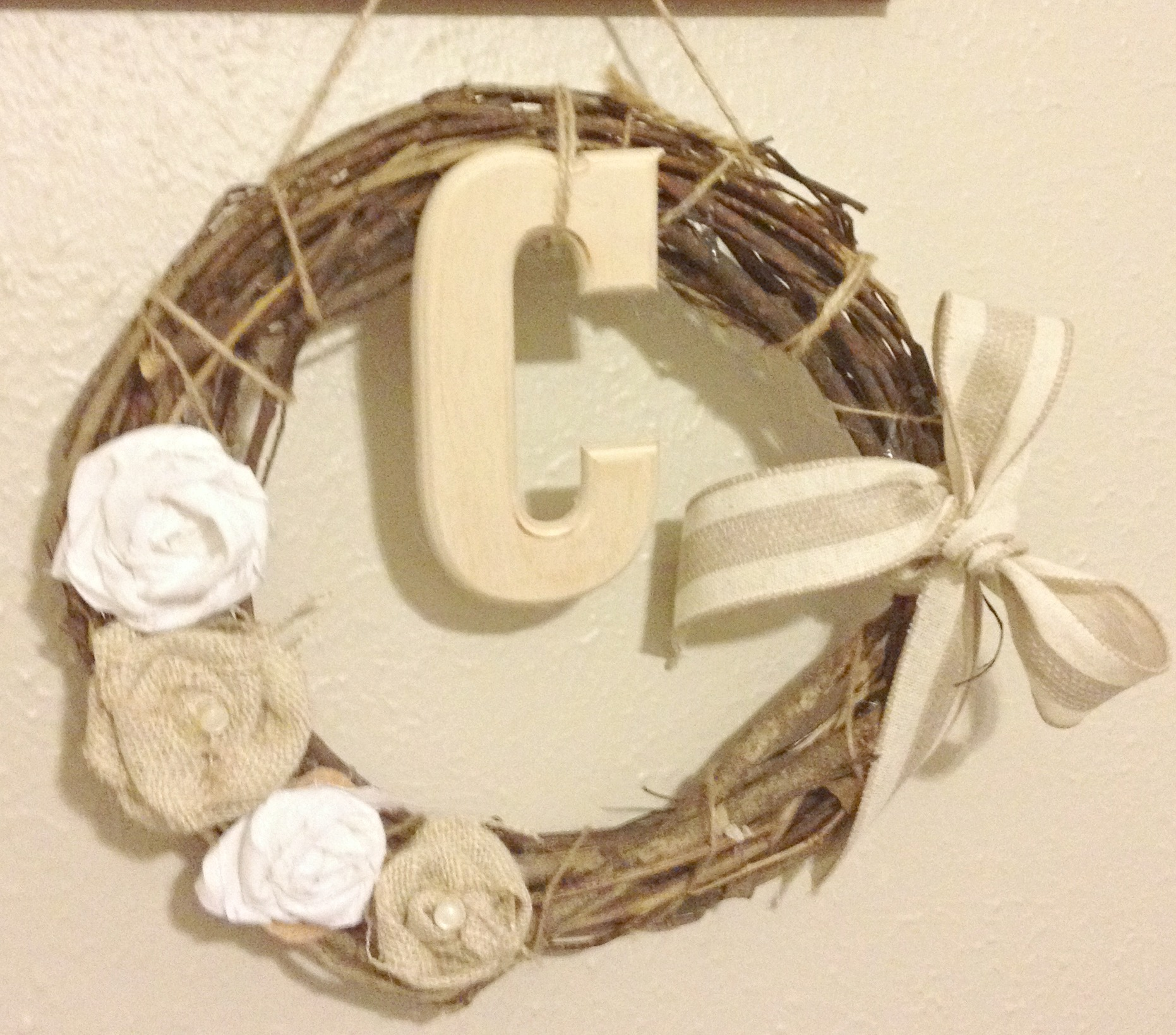 Burlap Door Wreath