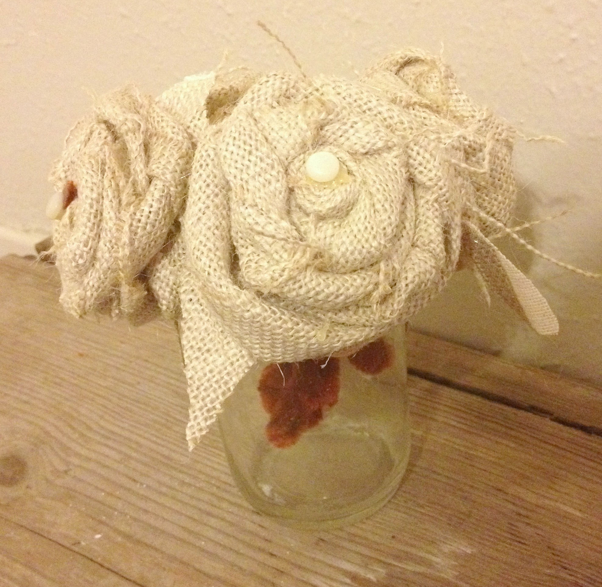 Burlap Rose Bouquet