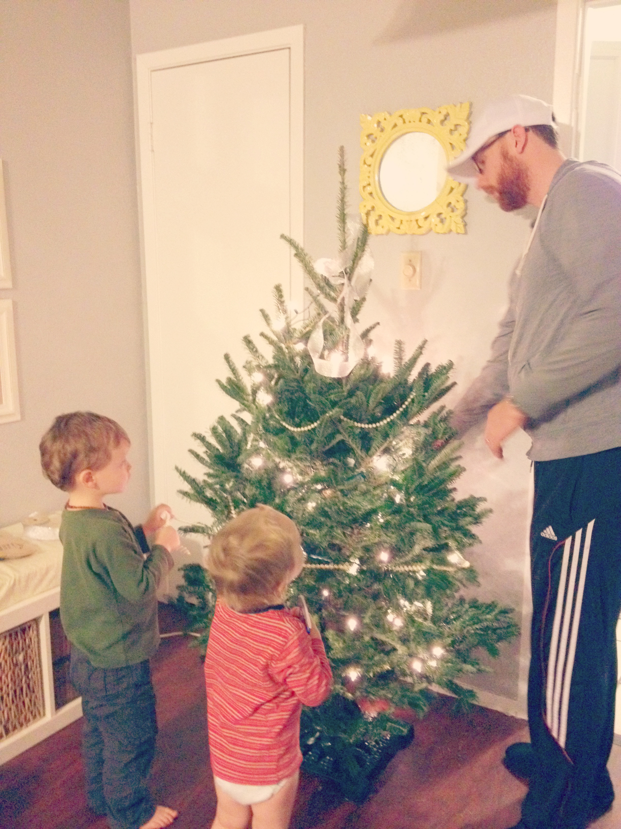 Boys Decorating the Tree