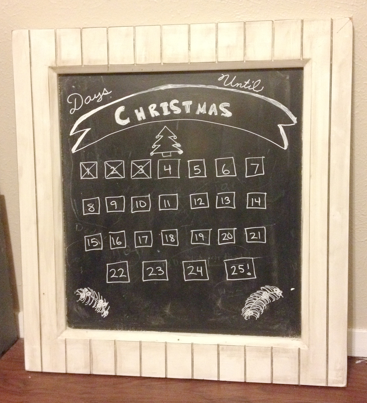 Chalkboard Advent Calendar