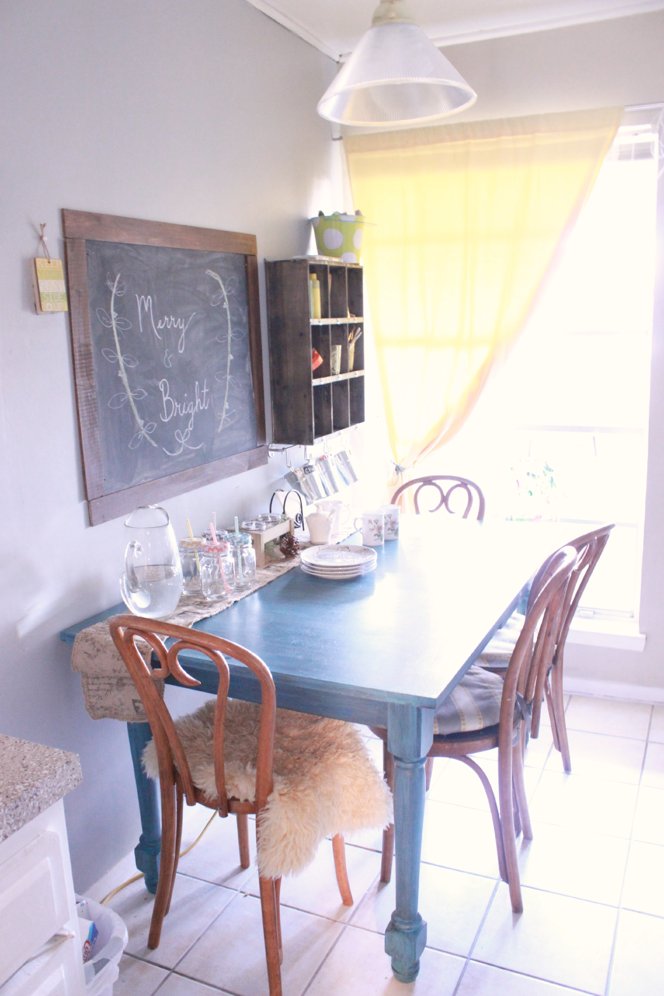 Gray and Yellow Dining Room