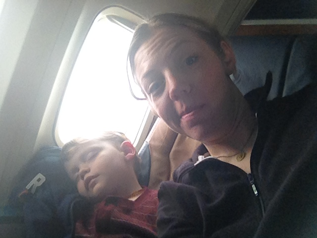 Asleep before the plane took off! It's a miracle!