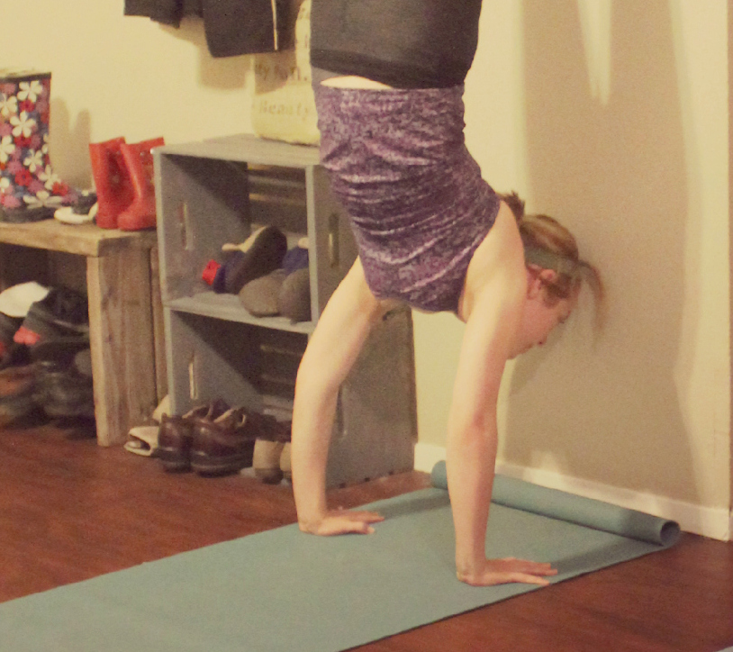 handstand on the wall cropped