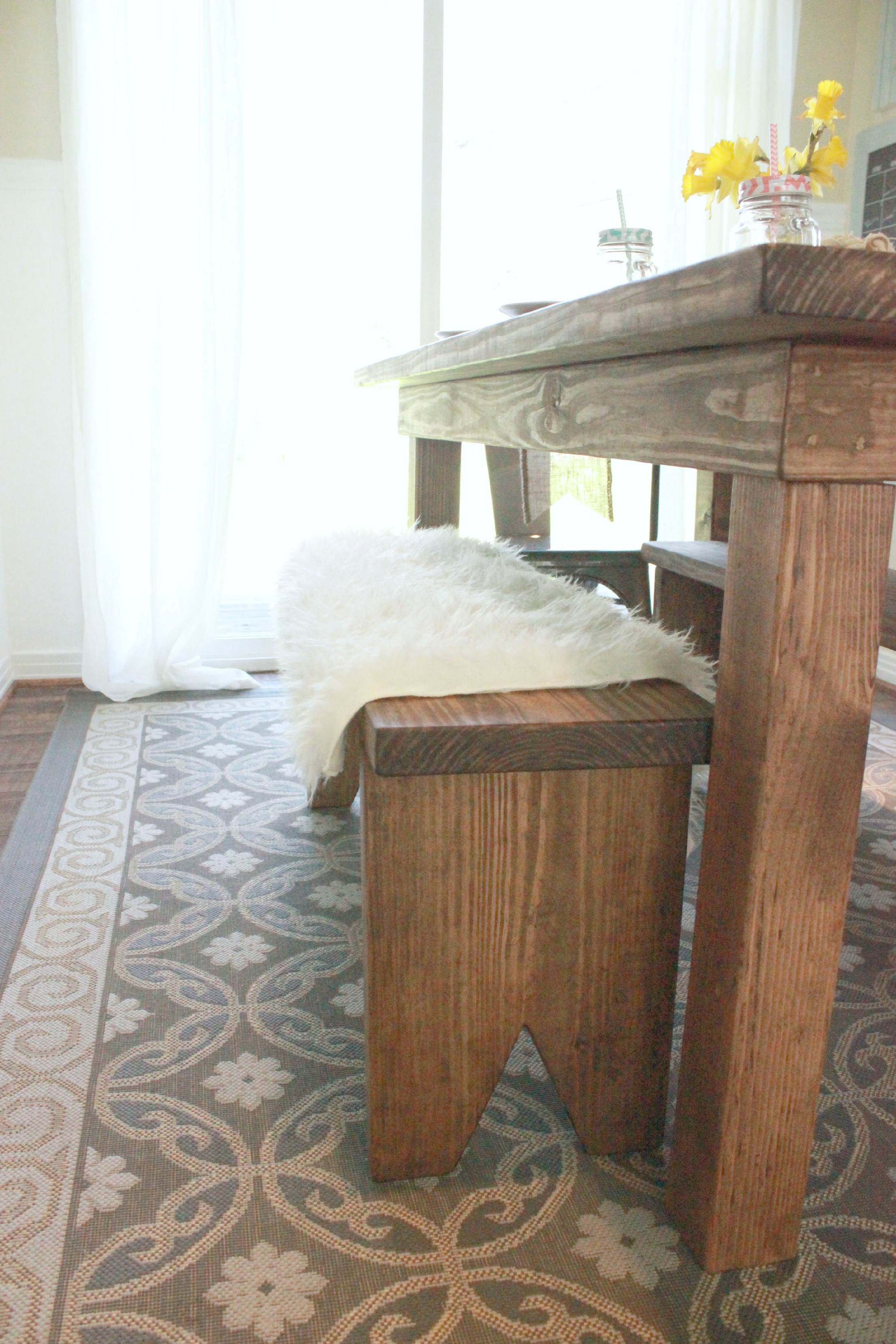 Cottage Farm Table Bench