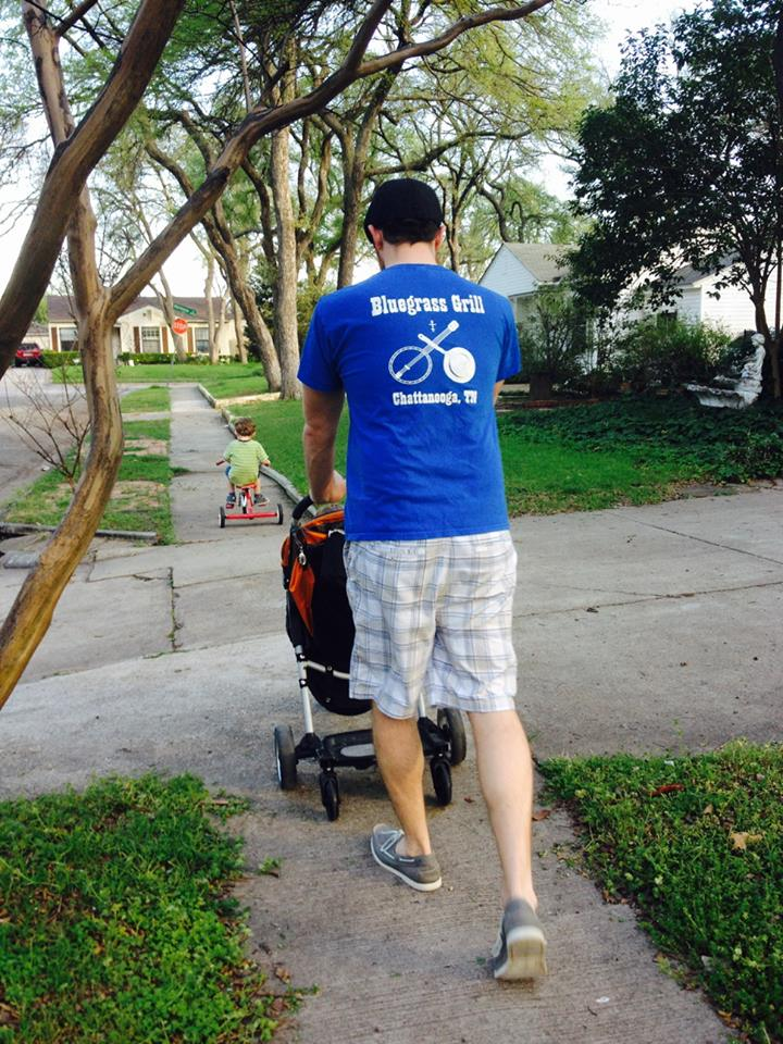 Jesse with stroller