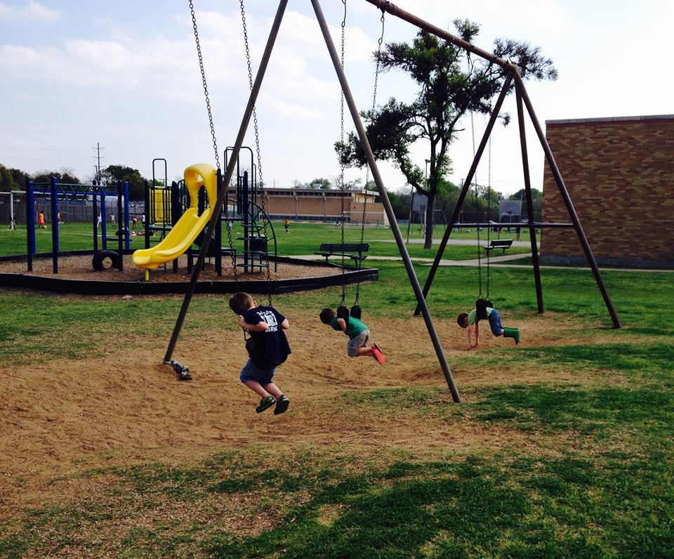 unruh boys and gregory on swings