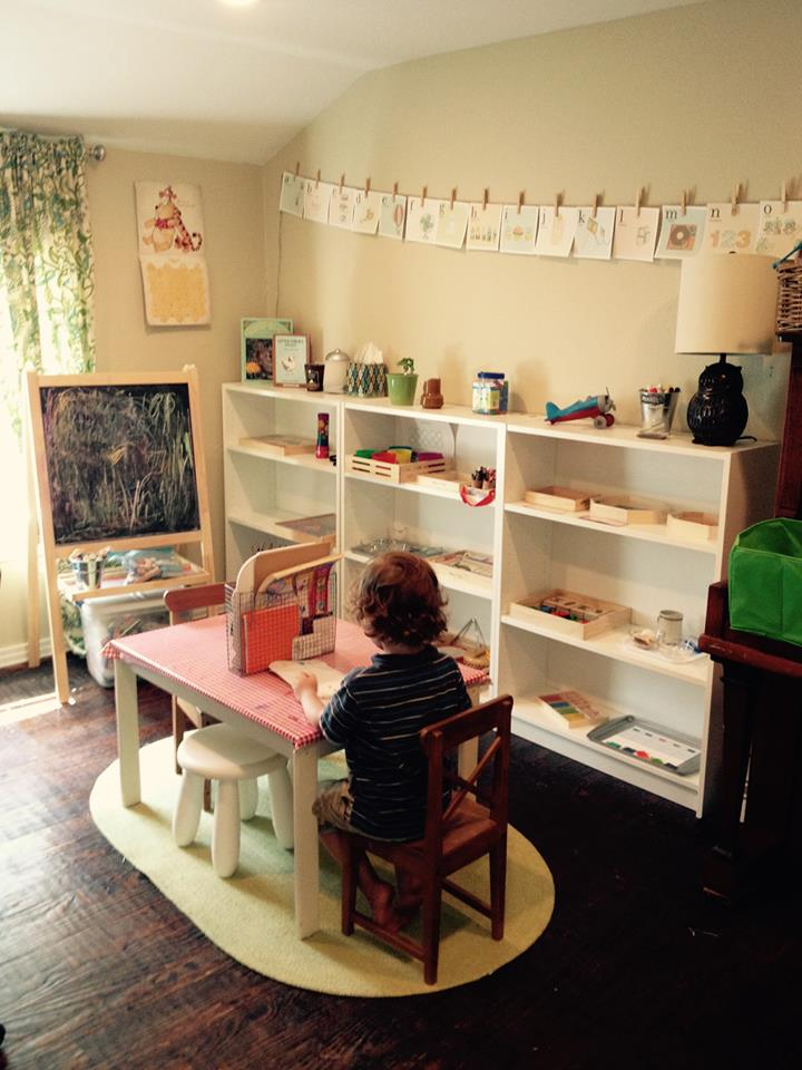 Montessori classroom at home