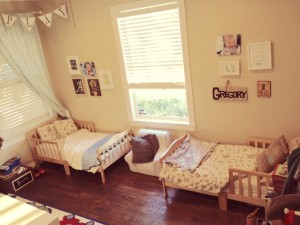 Boys Room Two Toddler Beds