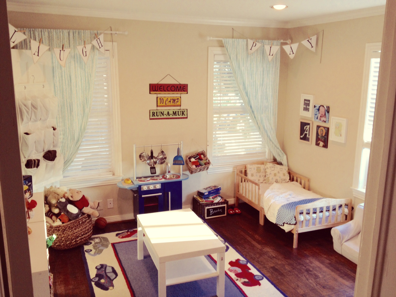 Boys Room with toddler beds