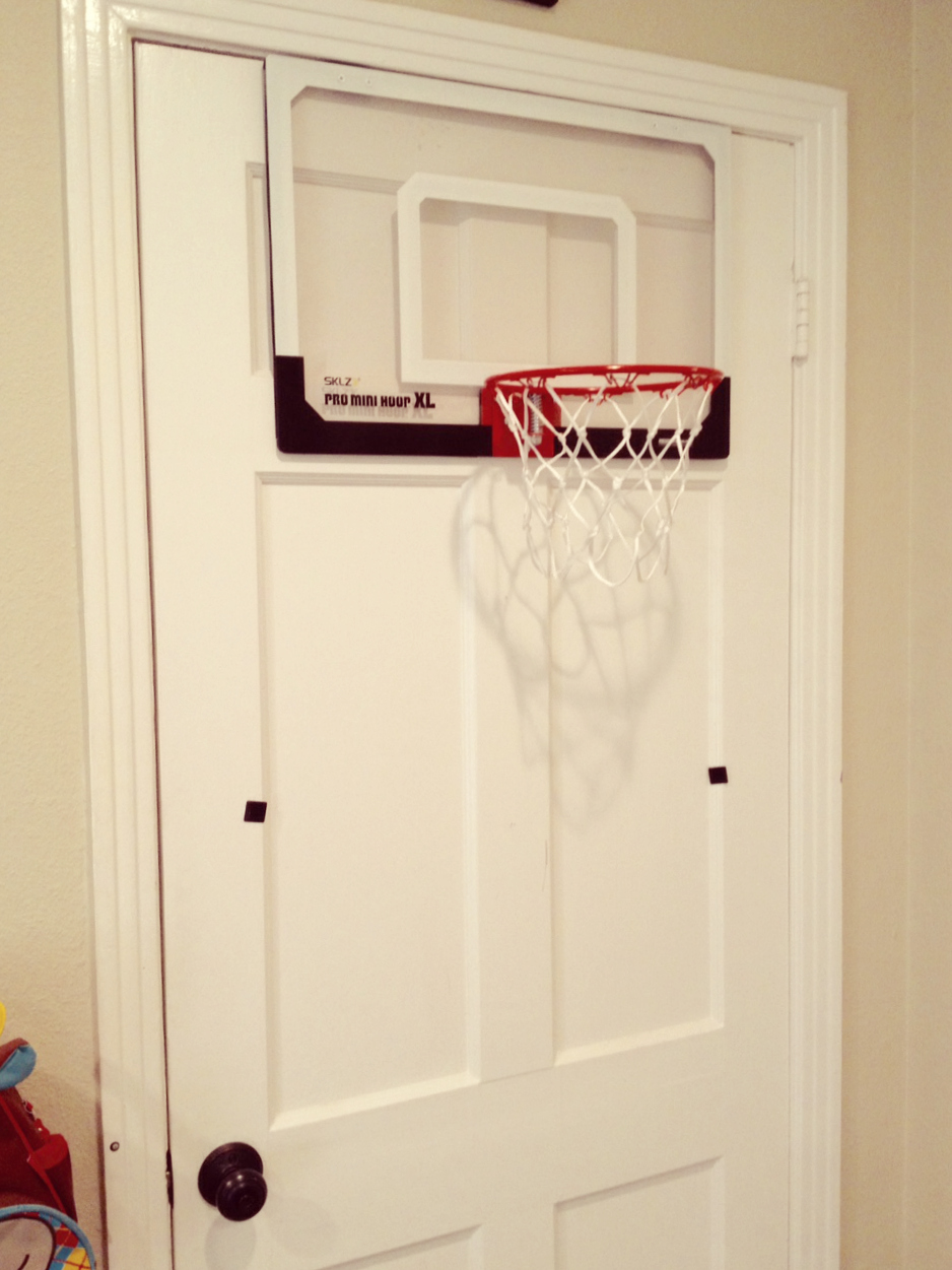 Boys Room Basketball Hoop on door