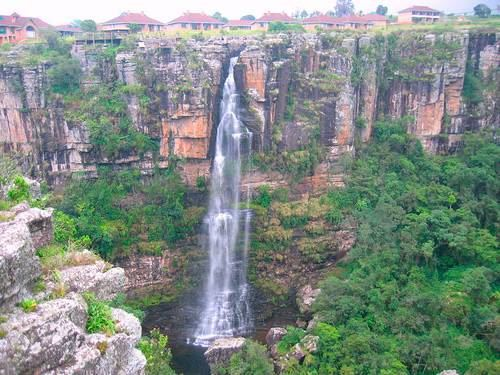 South Africa Graskop swing waterfall